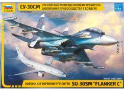 Zvezda Model Kit letadlo 7314 Sukhoi SU-30 SM Flanker C 1:72