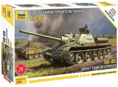 Zvezda Model Kit military 5062 Soviet tank destroyer SU-85 1:72