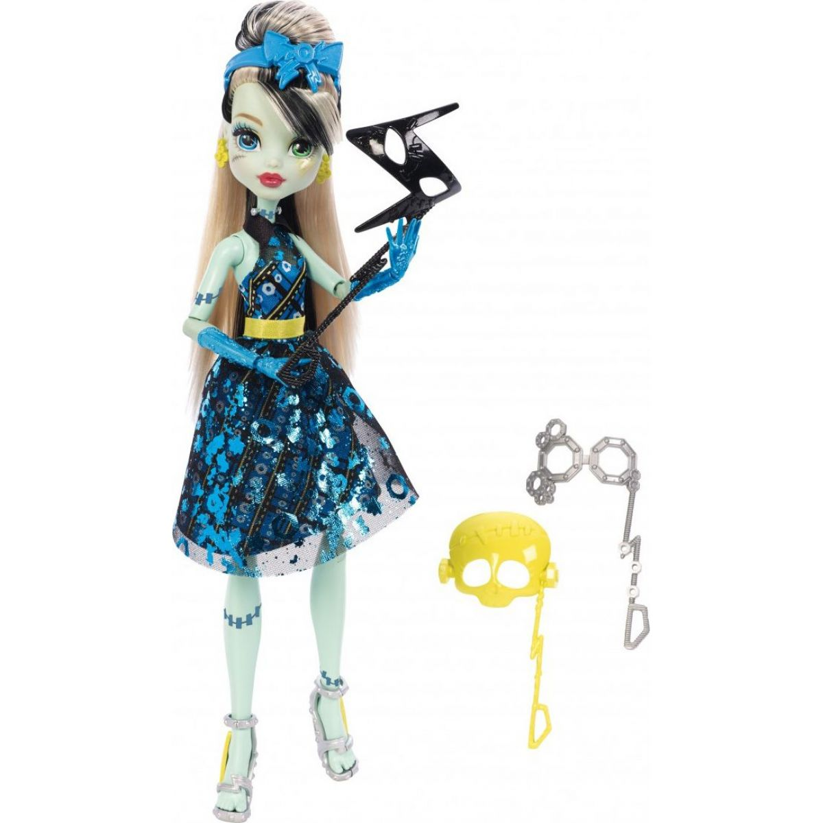 Monster High Monsterka s doplňky do fotokoutku - Frankie Stein DNX34