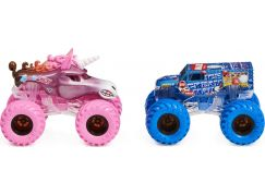 Monster Jam Sběratelská auta dvojbalení 1:64 Sparkle Smash a Ice Cream Man
