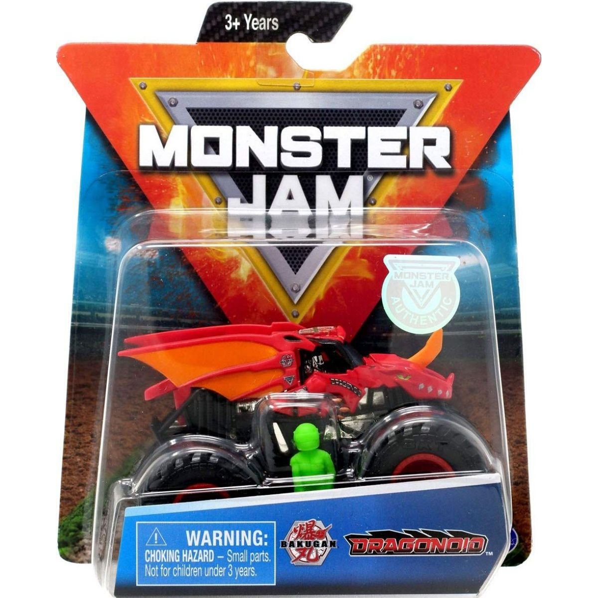 Monster Jam Sběratelská Die-Cast auta 1:64 Bakugan Dragonoid