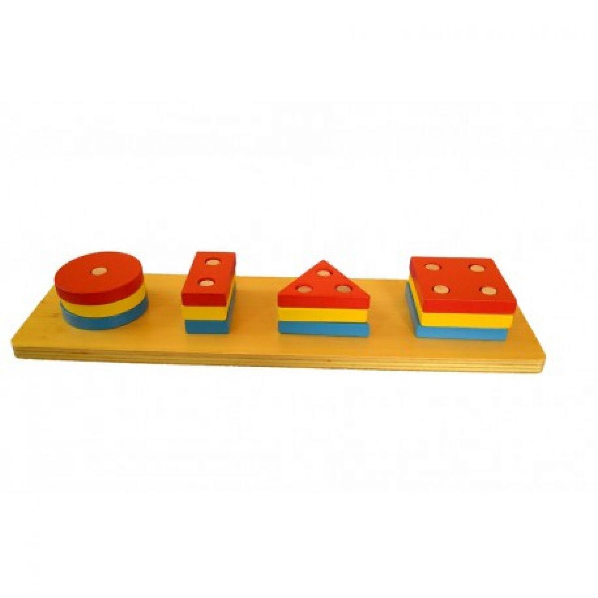 Montessori Barevné geometrické tvary - třídění