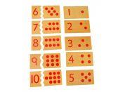 Montessori Čísla a puntíky- puzzle