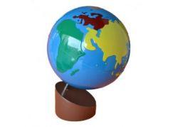Montessori Glóbus Barevné kontinenty - Poškozený obal