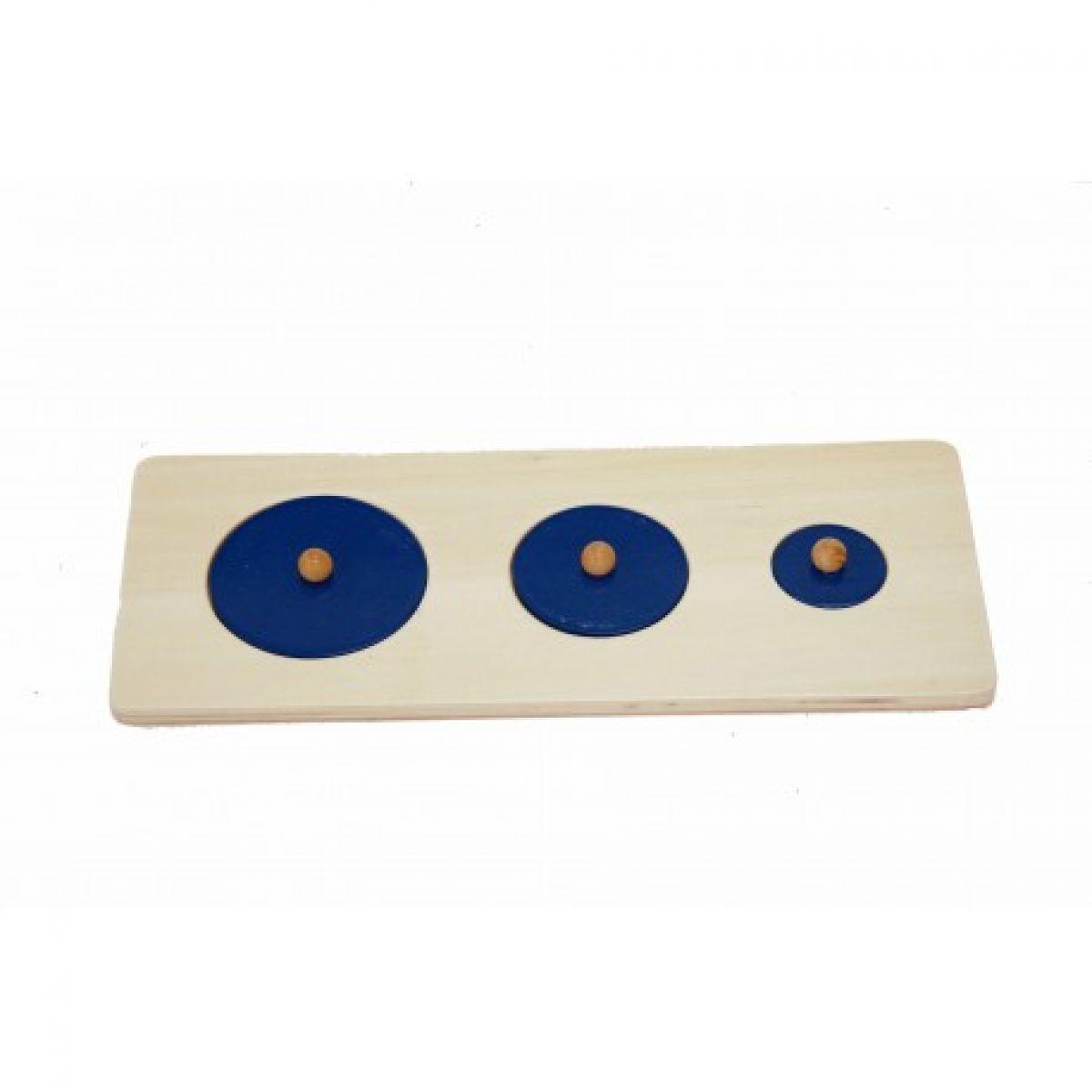 Montessori Puzzle - tři kruhy