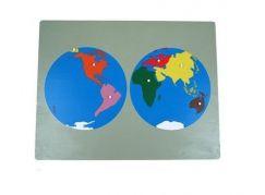 Montessori Puzzle Mapa Světa bez rámečku