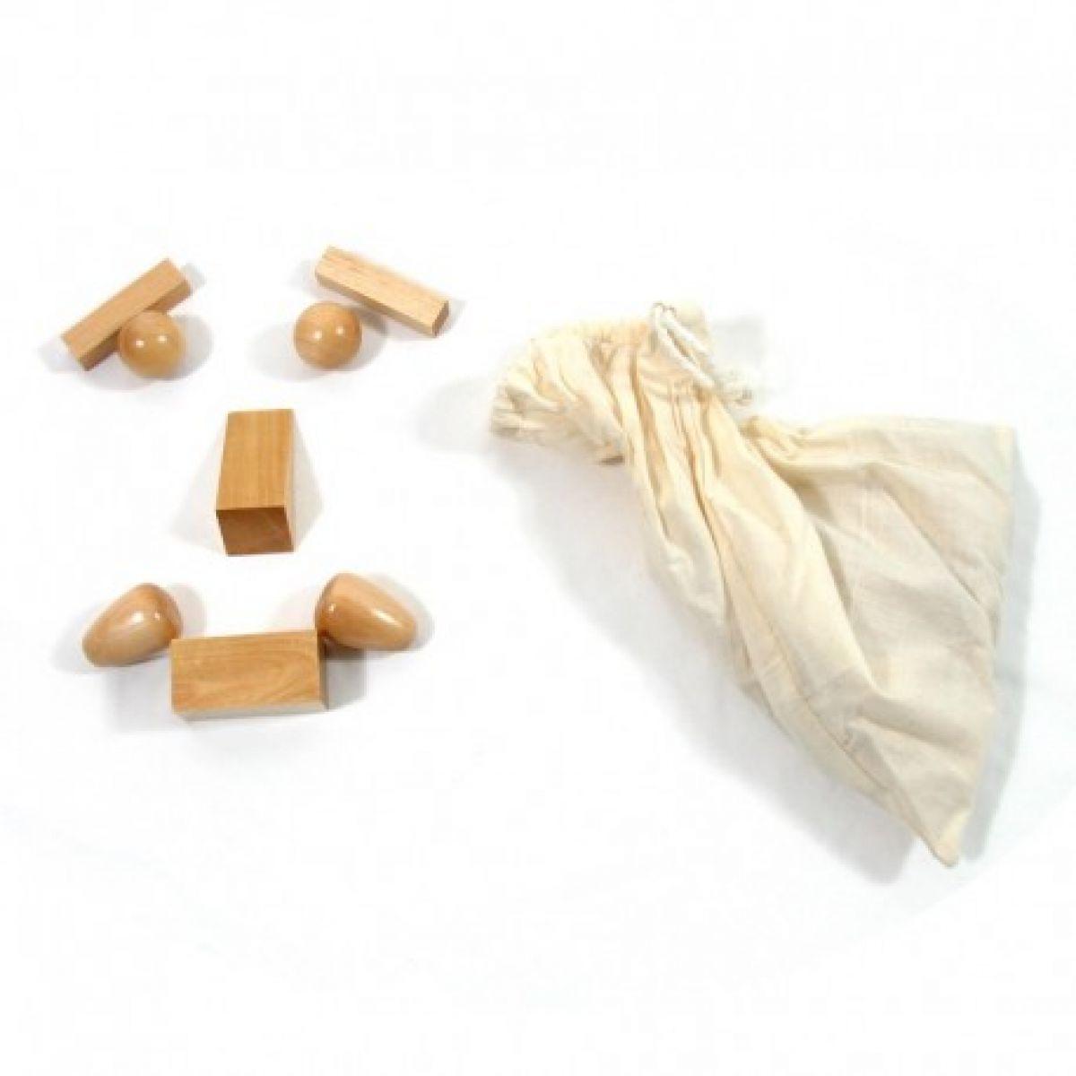 Montessori Tajemný sáček s geometrickými tělesy