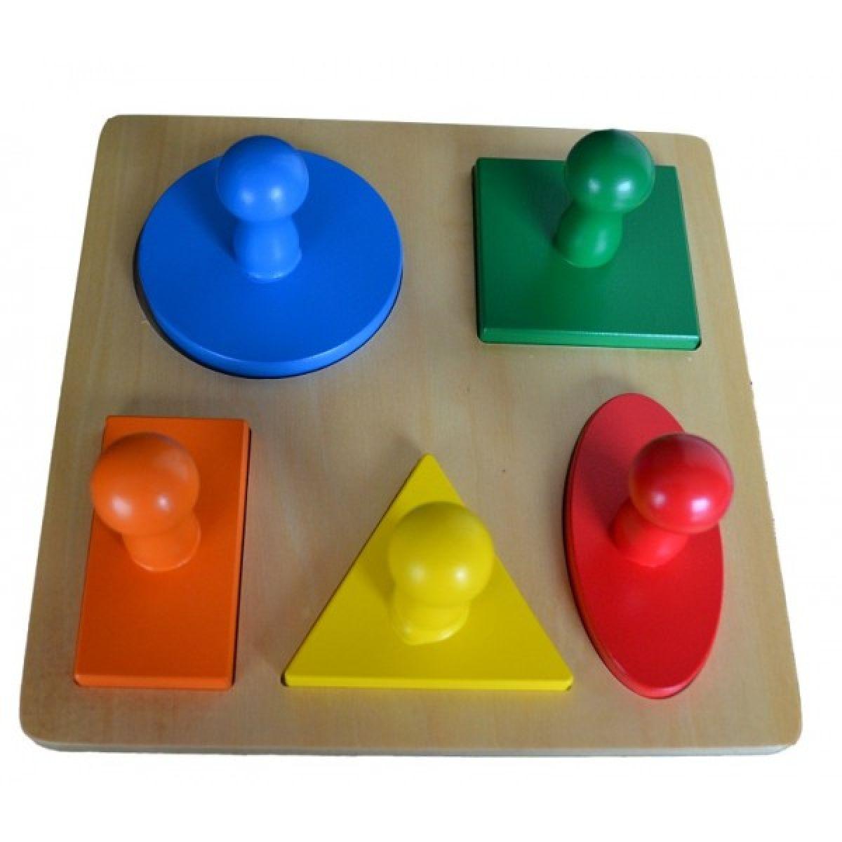 Montessori Vkládací puzzle geometrické tvary