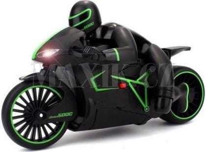 Motorka s řidičem se světlem 20 km/h - Zelená