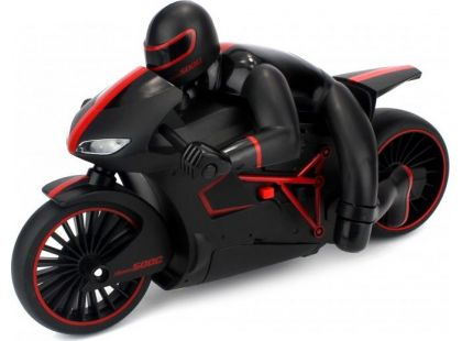 Motorka s řidičem se světlem 20 km/h - Červená