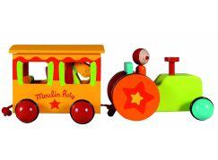 Moulin Roty Dřevěný traktor s dráčkem