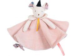 Moulin Roty Mazlící ubrousek růžová myška Mimi