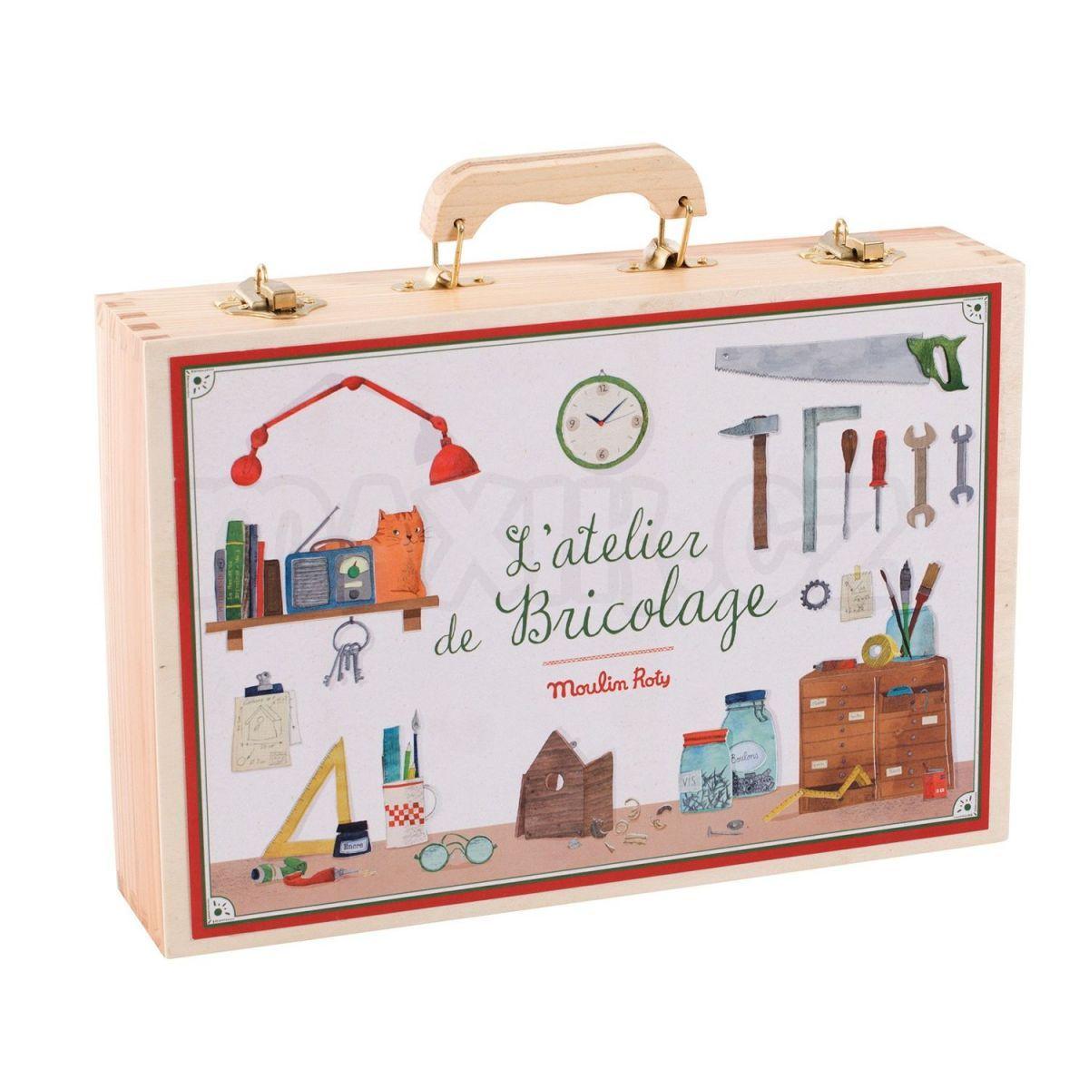ebb3c61a12fdb Moulin Roty Velká sada opravdového nářadí v kufříku | Maxíkovy hračky