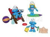 Šmoulové sada 3 figurky s doplňkem - Pláž