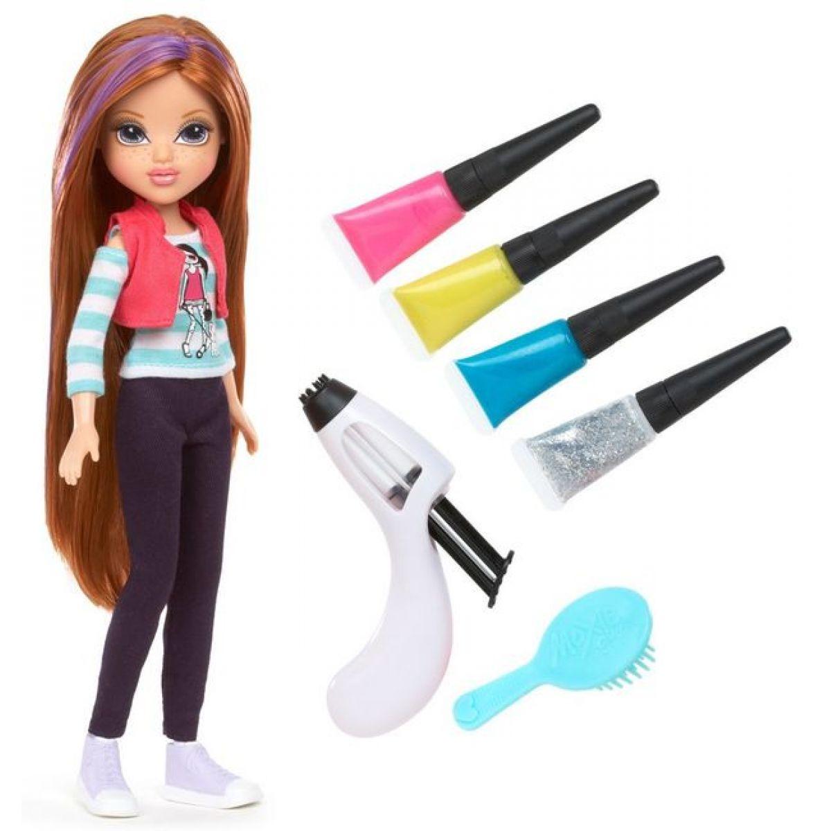 MOXIE GIRLS Magické vlasy s barevným melírem - Brunetka