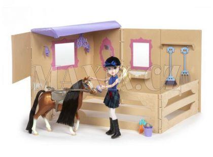Moxie Girlz Jezdkyně s poníkem a stájí