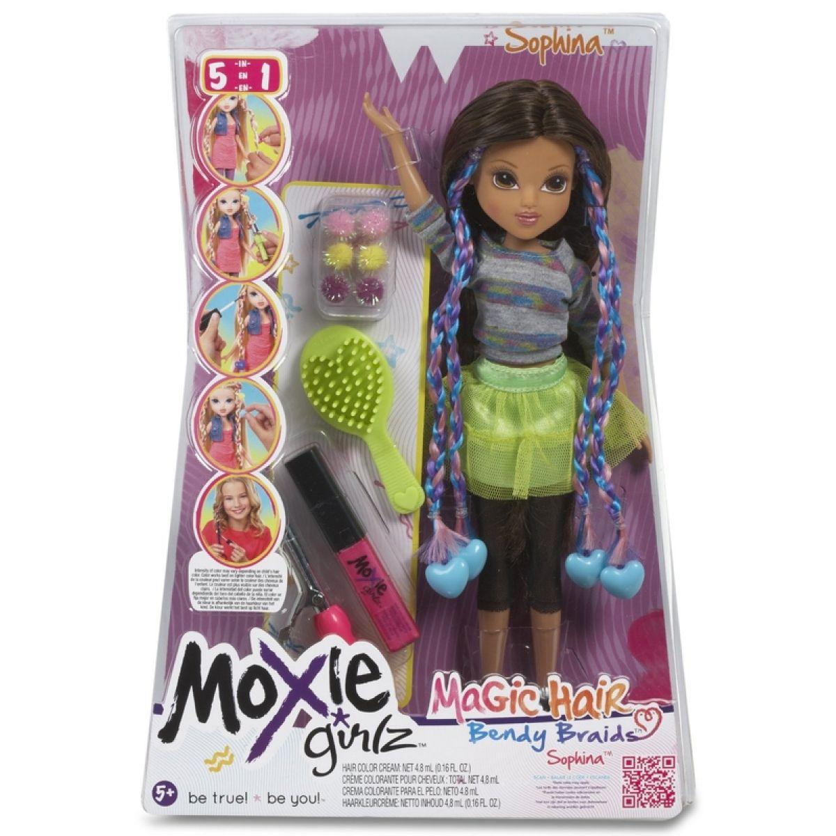 Moxie Girlz Magické vlasy s barevnými sponkami - Sophina #3