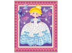 Mozaika se třpytivými flitry holčičí 20,5x17cm princezna