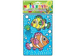 Mozaika se zvířátky 23x16 cm rybičky