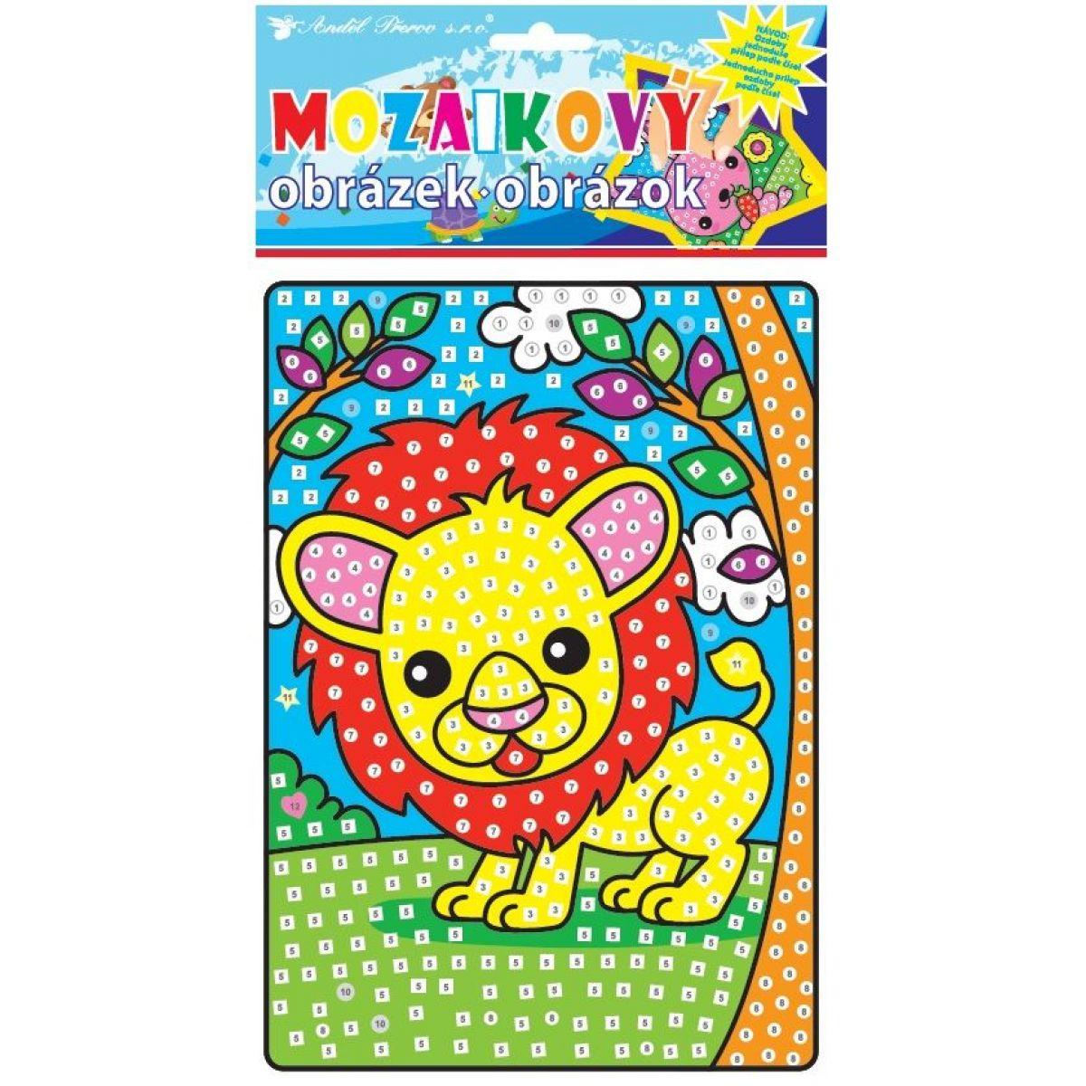 Mozaika zvířátka 23x16 cm lev