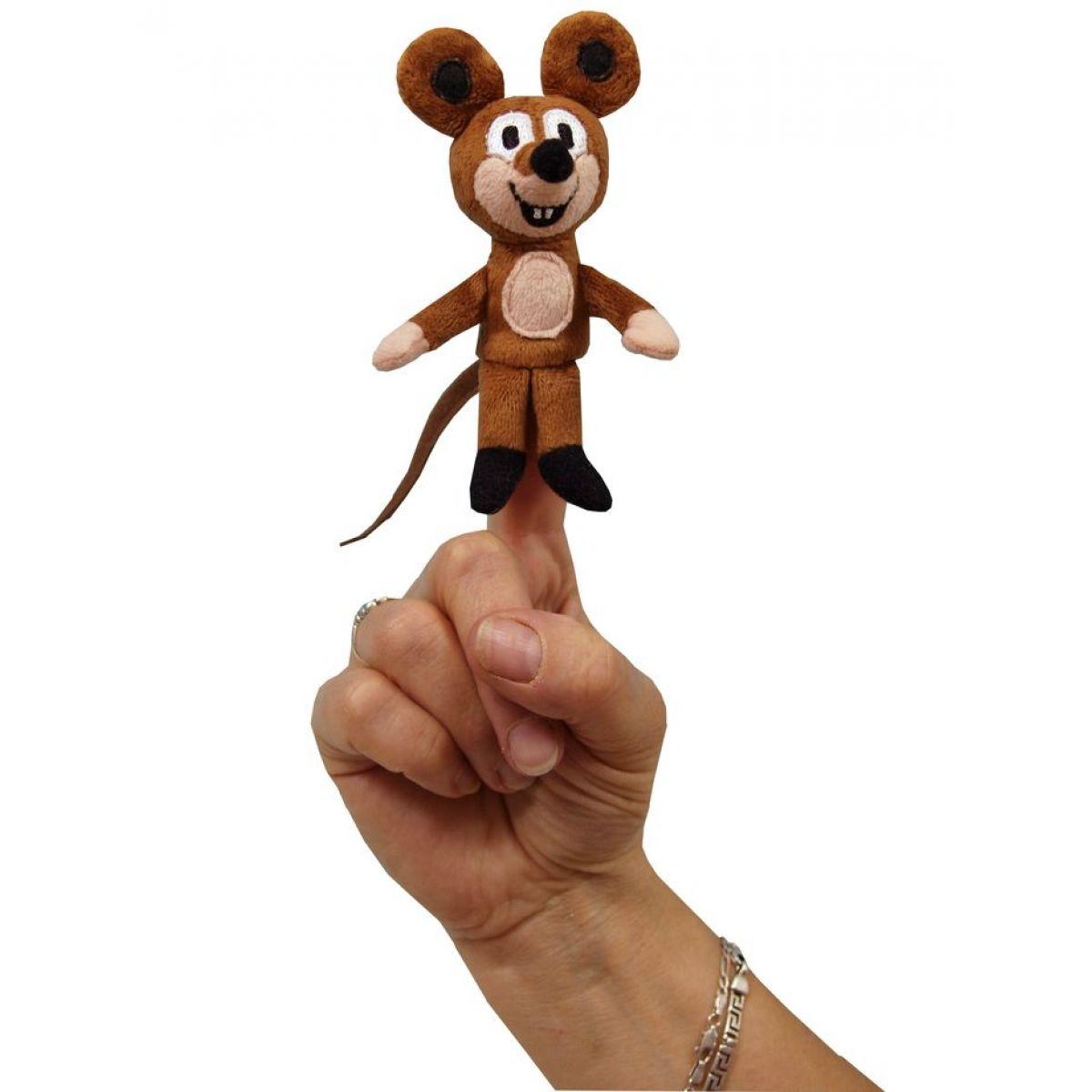 MÚ Brno Myška 8cm prstový maňásek