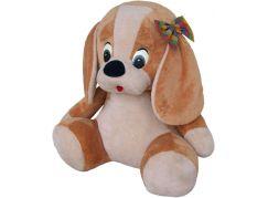 MÚ Brno Pes s mašlí 70cm béžový