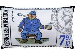 MÚ Brno Polštář 43x25cm Švejk známka