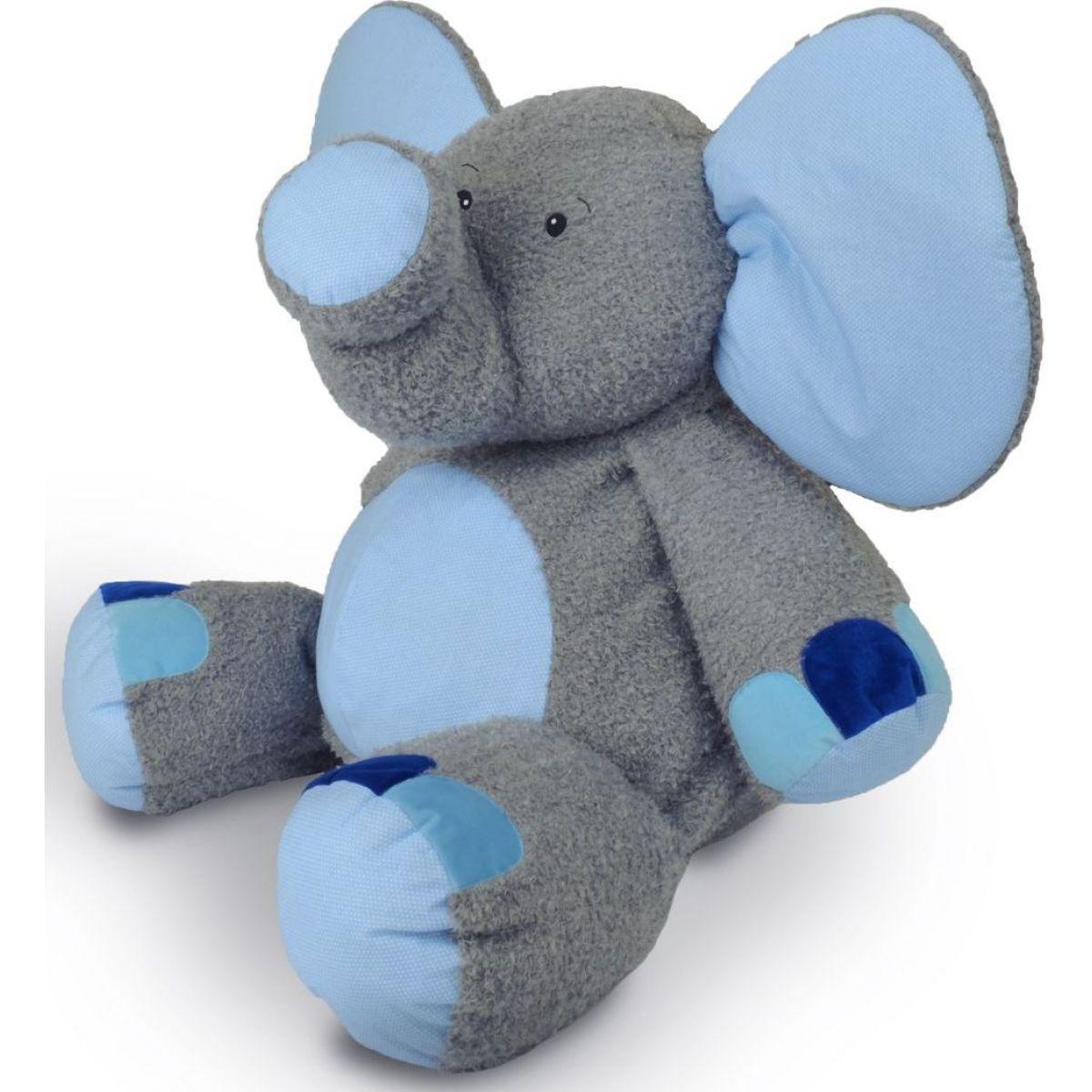 MÚ Brno Slon Valda 90cm, šedo-modrý