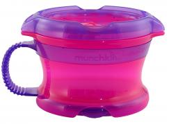 Munchkin Svačinkový hrneček Click Lock - Růžovo-fialová