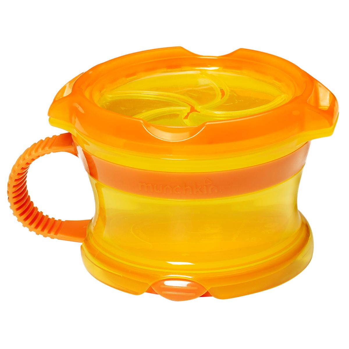 Munchkin Svačinkový hrneček Click Lock - Žluto-oranžová