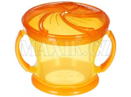 Munchkin Svačinkový hrneček - Oranžové víčko