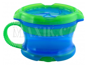 Munchkin Svačinkový hrneček Click Lock - Modro-zelená