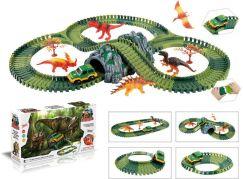 Mustar Variabilní dráha s dinosaury a tunelem 144 dílů