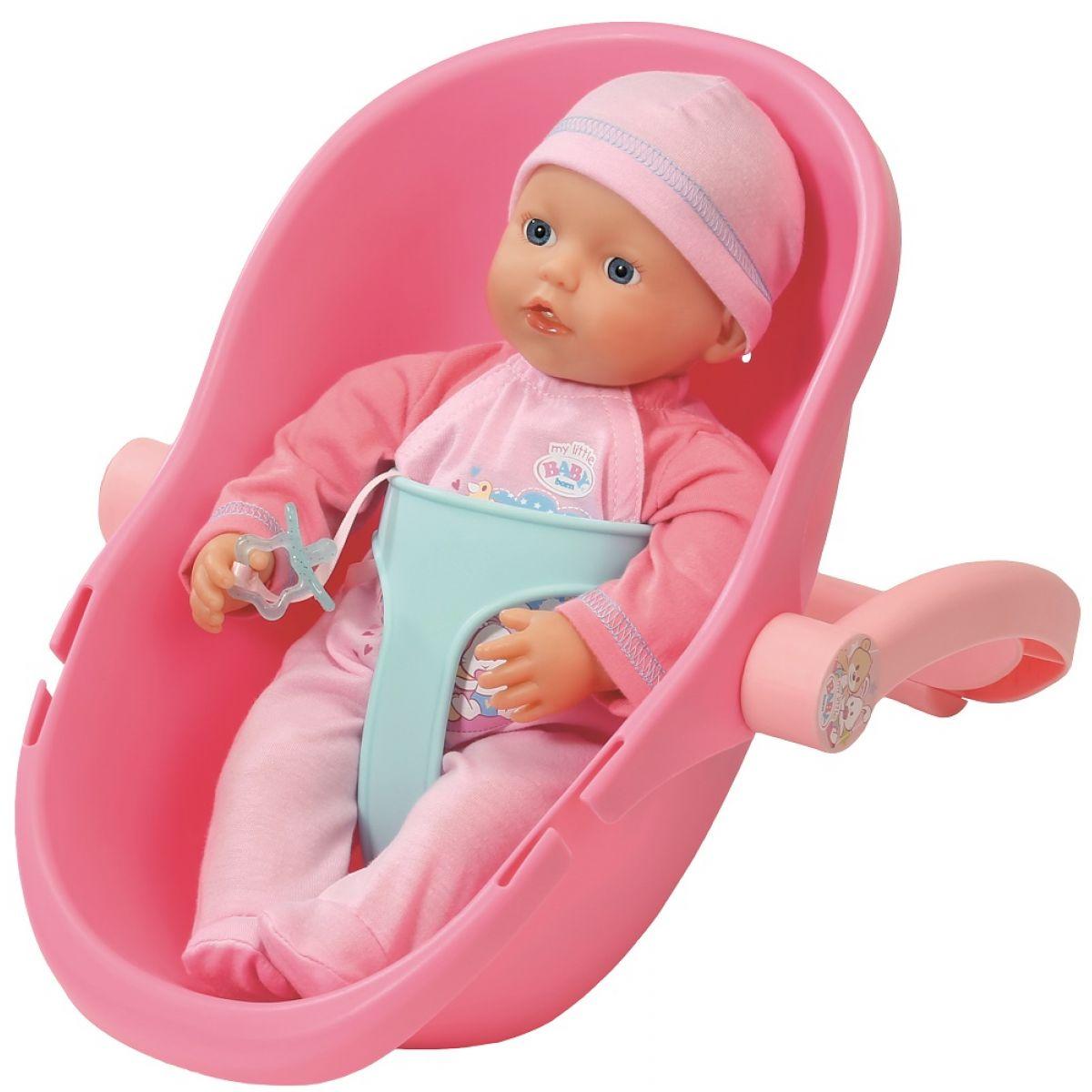 My little Baby Born Panenka s přenosnou sedačkou