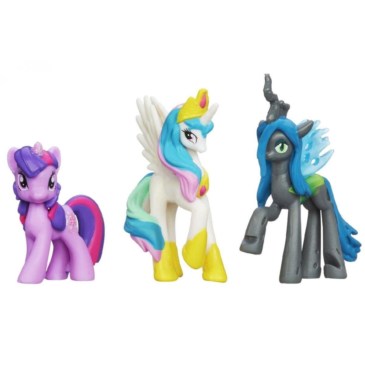 My Little Pony 3 poníci v kolekci - Chrysalis, Twilight Sparkle, Celestia