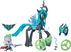 My Little Pony Guardians of harmony 2 poníci Queen Chrysalis vs Spike the Dragon