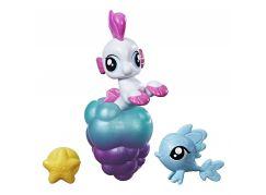 My Little Pony Mini pony s přísavkou a doplňky Bílý s růžovou hřívou
