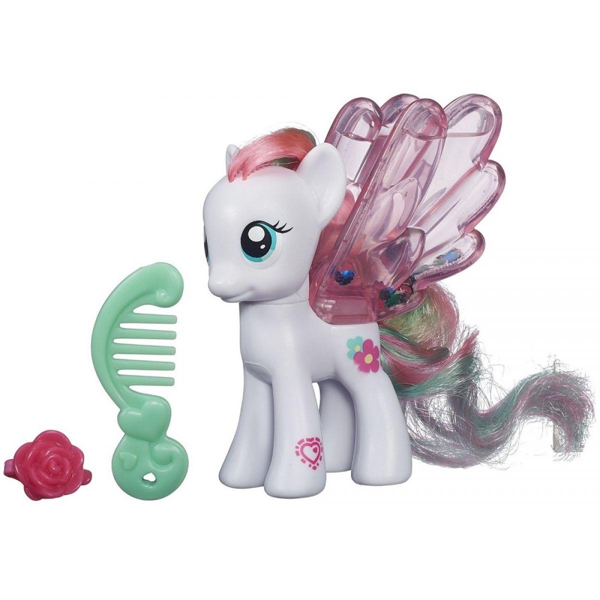 My Little Pony Průhledný poník s třpytkami a doplňkem - Blossomforth