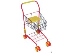 Nákupní vozík kovový - Červená