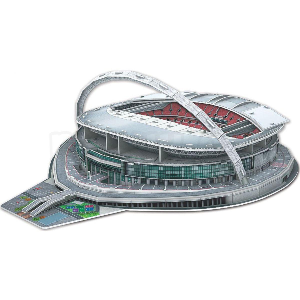 nanostad 3d puzzle stadion wembley 89d max kovy hra ky. Black Bedroom Furniture Sets. Home Design Ideas