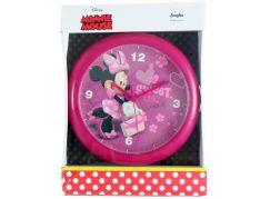 Nástěnné hodiny Minnie se srdíčky