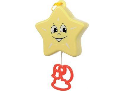 Natahovací hudební hračka 12 cm Simba - Hvězdička