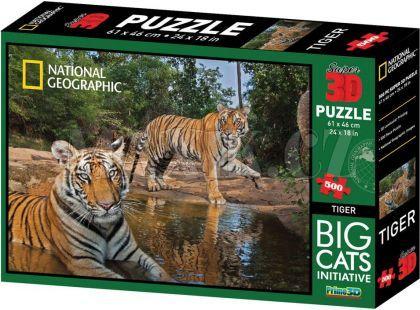 National Geographic 3D Puzzle Tygři 500 dílků