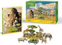 National Geographic Kids 3D Puzzle Africká divočina - 69 dílků