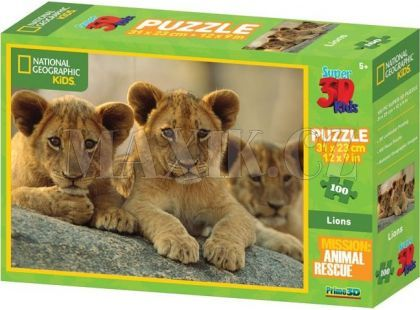 National Geographic Kids 3D Puzzle Lvi 100 dílků