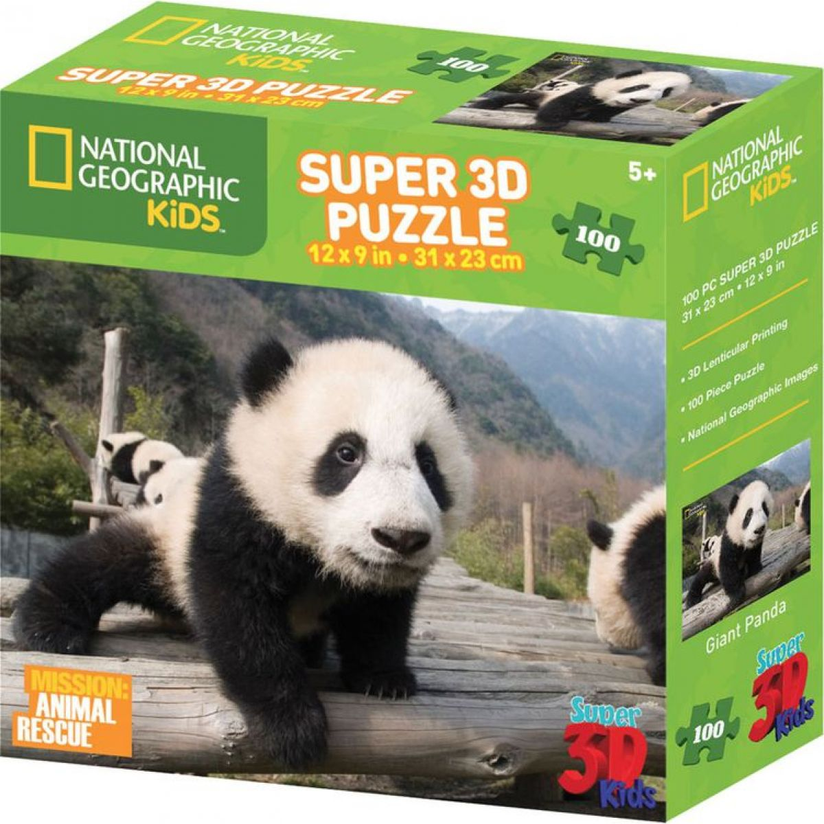 National Geographic Kids 3D Puzzle Panda 100 dílků