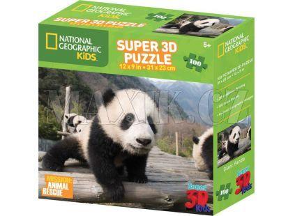 National Geographic Kids 3D Puzzle Panda 100 dílků