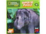 National Geographic Kids 3D Puzzle Slon 48 dílků