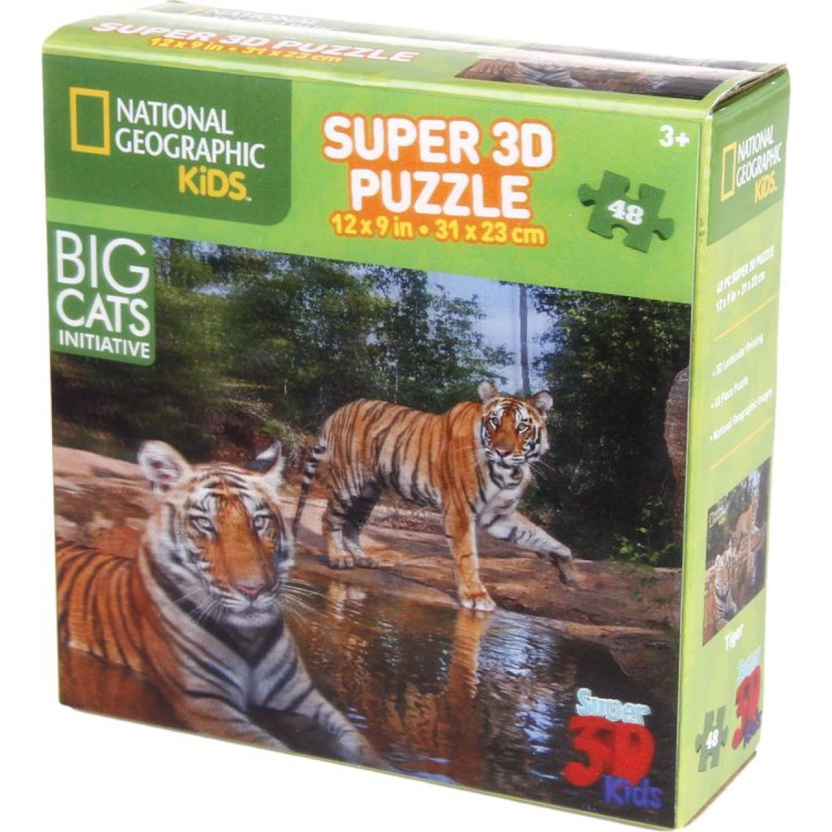 National Geographic Kids 3D Puzzle Tygr 48 dílků
