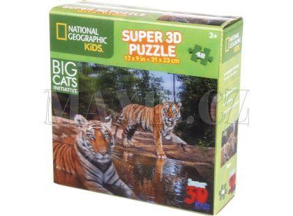 National Geographic Kids 3D Puzzle Tygr 48 dílků